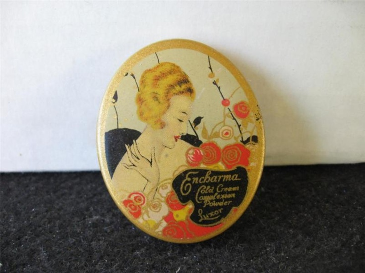 Vintage~ LUXOR ENCHARMA ~Complexion Powder TIN ~1930's?~ Cold Cream | eBay: Tins 1930 S Cold Cream, Contenitori Vintage, Vintage Vanities, Powder Tin1930Scold, Encharma Complexion Powder, Vintage Powder, Powder Boxes, Encharmacomplexion Powder, Powder Tins 1930 S Cold