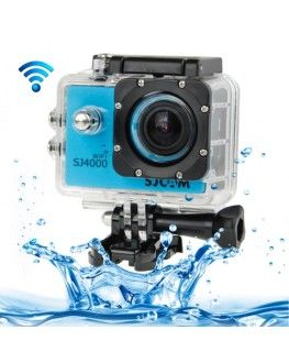 SJCAM SJ4000 WiFi Full HD 1080P 12MP Diving Bicycle Action Camera 30m Waterproof Car DVR Sports DV with Waterproof Case(Blue)