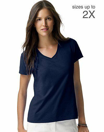 d1167e46b88 Hanes Women s Nano-T V-Neck T-Shirt S04V apos Women Hanes