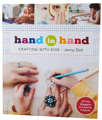 "Handmade Charlotte contributed a DIY tutorial to the kid's craft book ""Hand in Hand"""