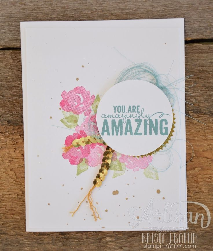 Stampin' Dolce: Simple & Sweet Painted Petals - Artisan Design Team Blog Hop