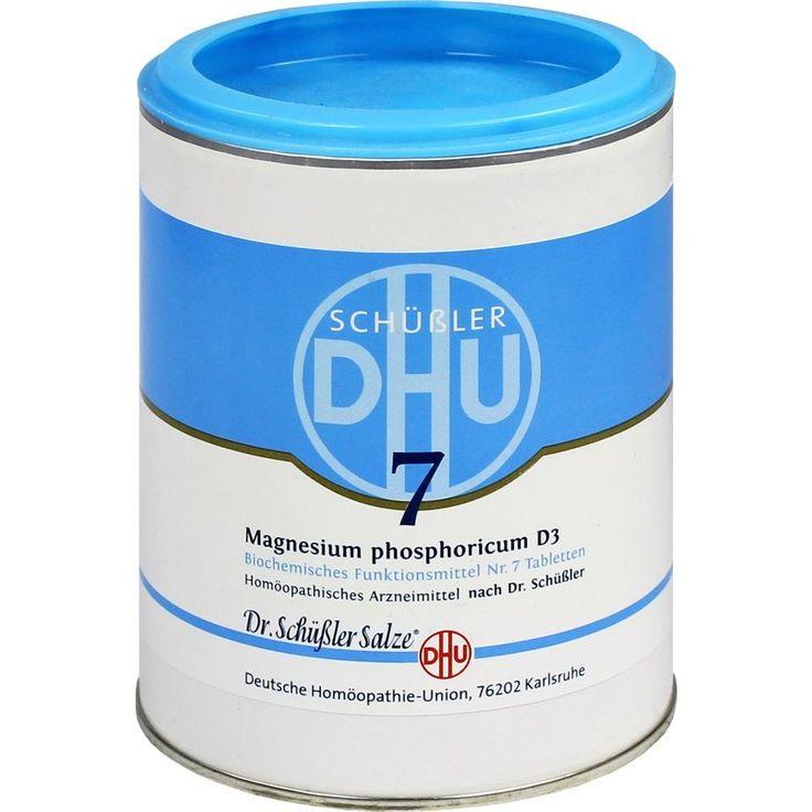 BIOCHEMIE DHU Schüssler Salz 7 Magnesium phosphor. D3 Tabletten:   Packungsinhalt: 1000 St Tabletten PZN: 00274341 Hersteller:…