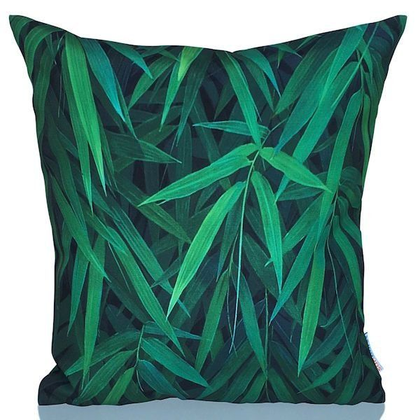 Bamboo cushion cover.