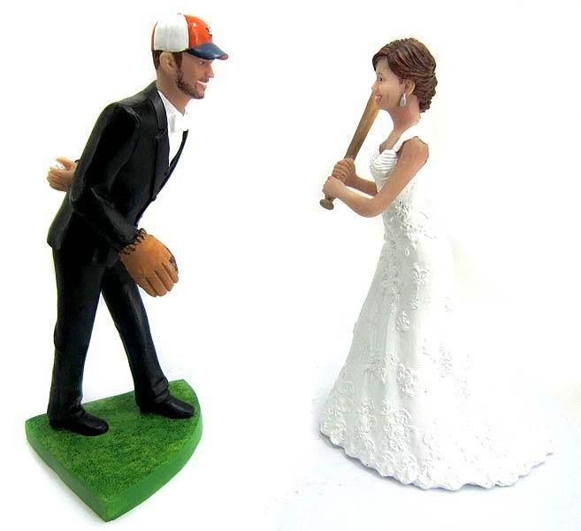 BobbleGr.am - Pitching Baseball Wedding Cake Topper, $184.99 (http://www.bobblegr.am/pitching-baseball-wedding-cake-topper/)