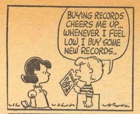 """Buying records cheers me up… Whenever I feel low, I buy some new records.""    #quote #music"