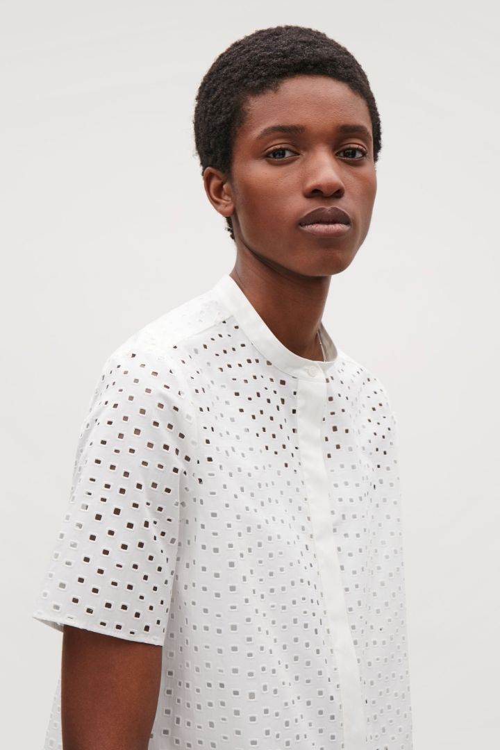 COS | Cut-out cotton shirt