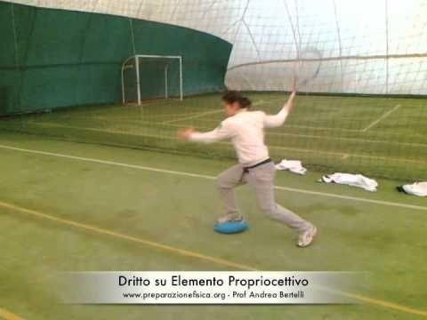 Tennis - Diritto su Elemento Propriocettivo - YouTube