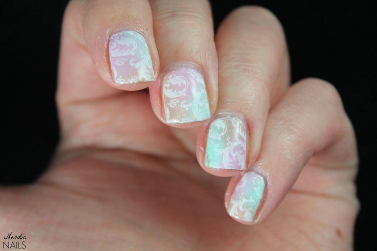 Nerdic Nails. Pastel stamping.