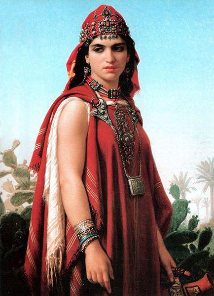 Émile Vernet-Lecomte (1821–1900)   English: Berber Woman  Français : Femme berbère  Date 1870