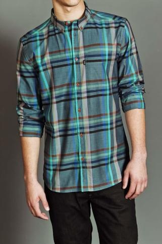 WESC: Adriat Blue, Men Clothing, Checked Shirts, Check Shirts, Guys Style, Men Fashion, Blue Plaid, Cotton Buttons Up, Guys Wear