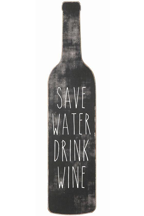 Save Water Drink Wine Wall Art - Wall Art - Wall Decor - Unframed Wall Art   HomeDecorators.com   $7 on sale
