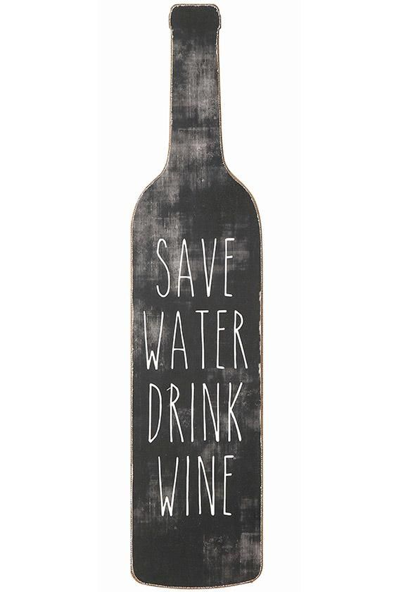 Save Water Drink Wine Wall Art - Wall Art - Wall Decor - Unframed Wall Art | HomeDecorators.com | $7 on sale