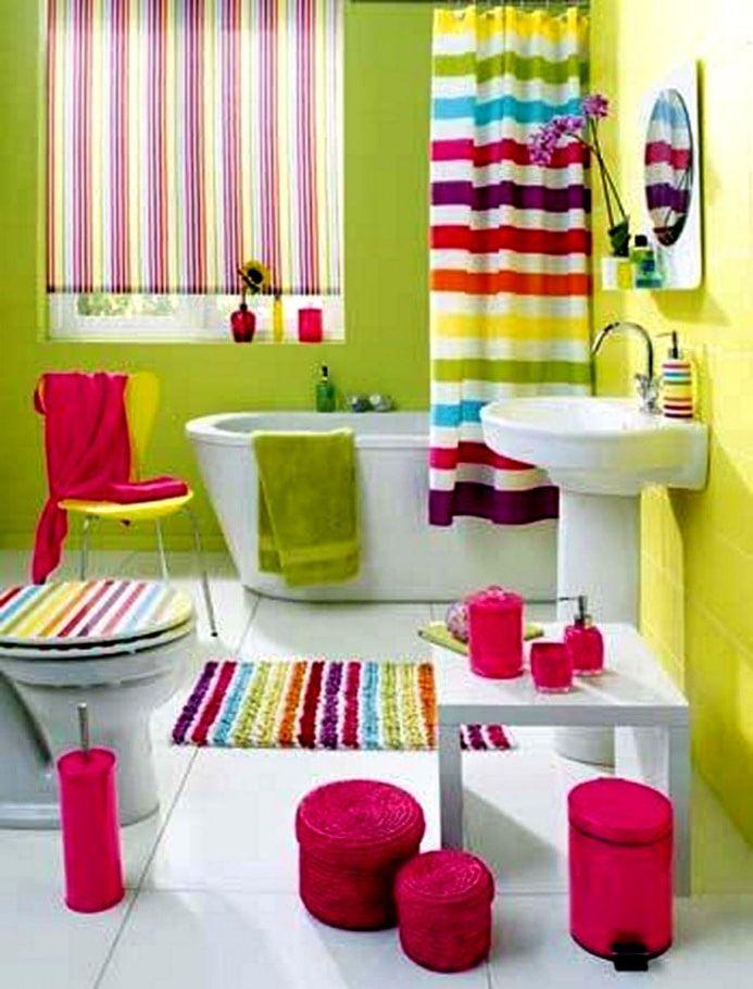 Sdb Enfant Couleurs Acidulées Salle, Colorful Bathroom Sets