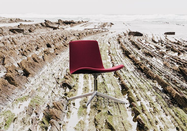 Lottus Longe Collection - red chair with sea background