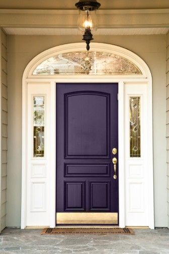 considering a plum colored front door...the little house will be tan, but it has a dark green roof...hmmm.
