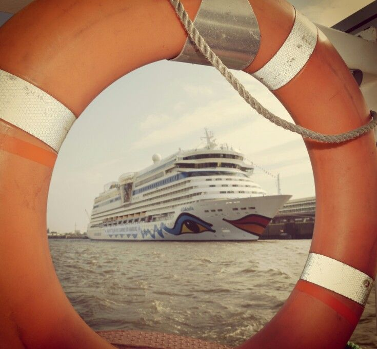 AIDA Bella during a harbour trip #AIDA #Hamburg #cruise