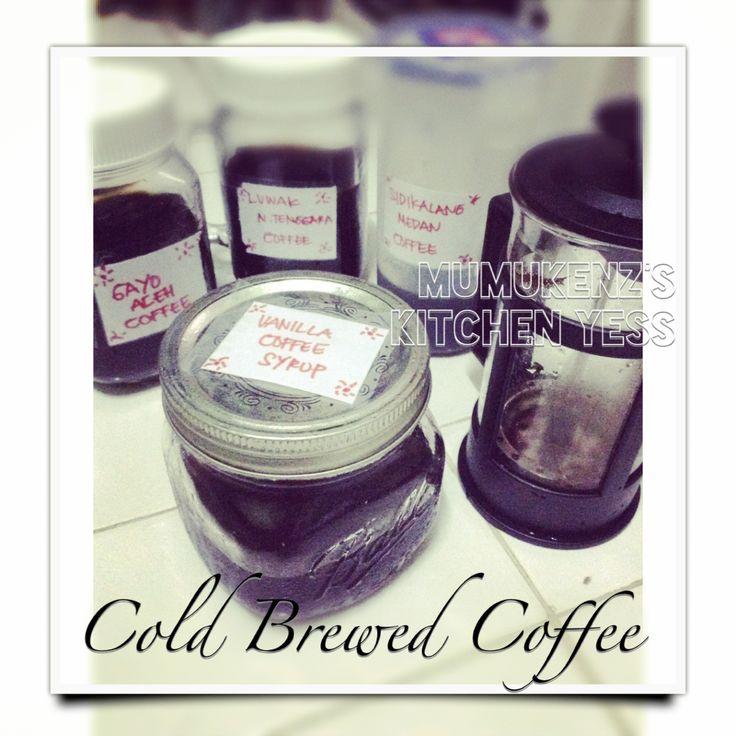 "my ""ColdBrew Coffee"" and  my ""Vanilla Coffee Syrup"" Yess     #homemade ❤️"