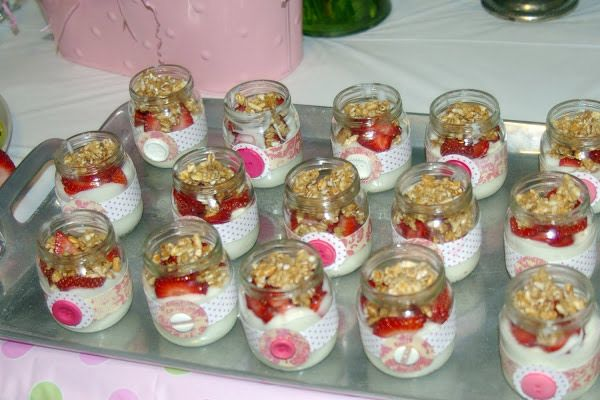 use baby food jars to serve individual portions of a layered salad or