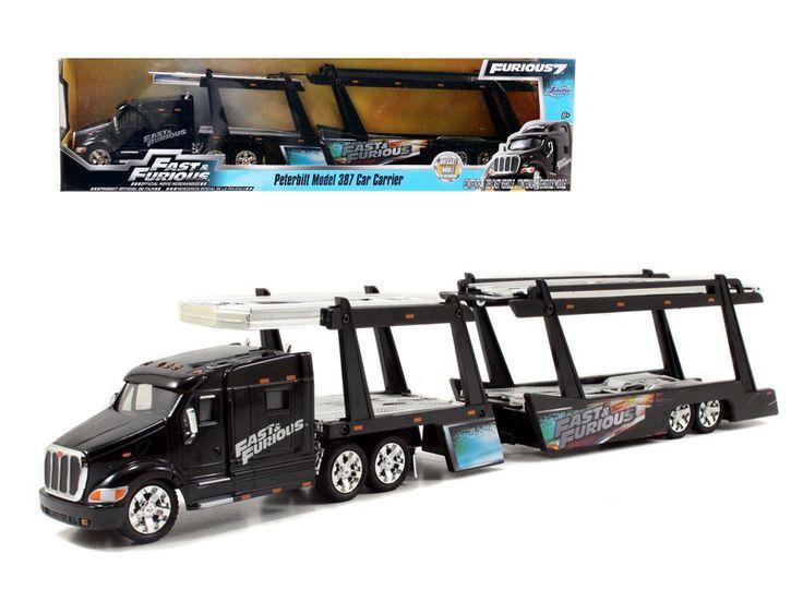 """Peterbilt 387 Car Carrier \ Fast & Furious\"""" 1/64 by Jada """""""