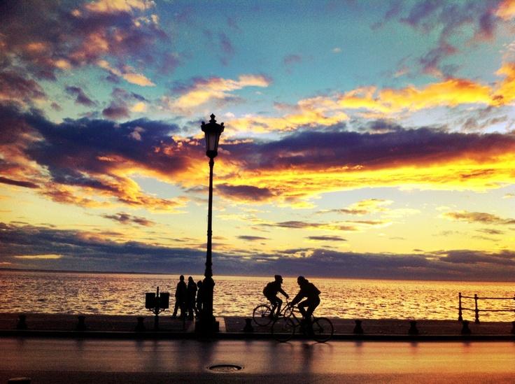 Extraordinary dawn, Thessaloniki, Waterfront......