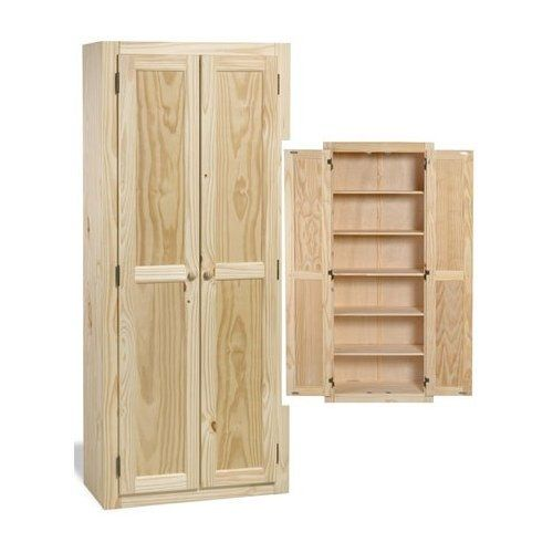 kitchen pantry cabinet solid wood large unfinished