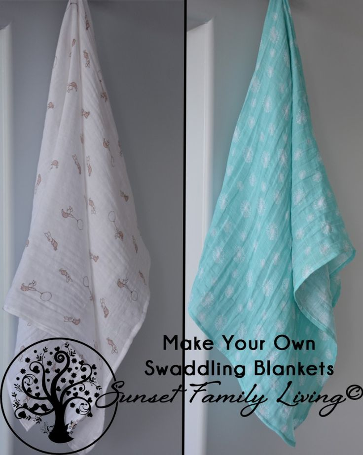 Free tutorial - how to make muslin or gauze swaddling blankets