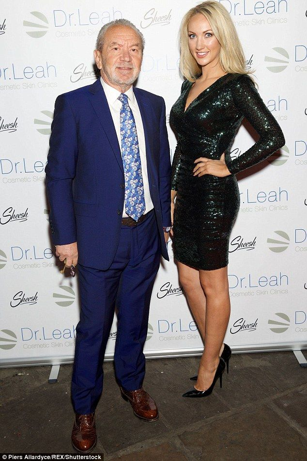 Lording it up: Lord Alan Sugar was also at the event with his business partner  promoting ...