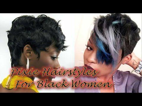 Pixie Hairstyles for Black Hair -  Black Ladies