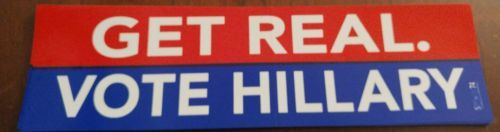 Hillary Clinton: Hillary Clinton - Get Real Bumper Sticker - Authentic Official President -> BUY IT NOW ONLY: $3.99 on eBay!
