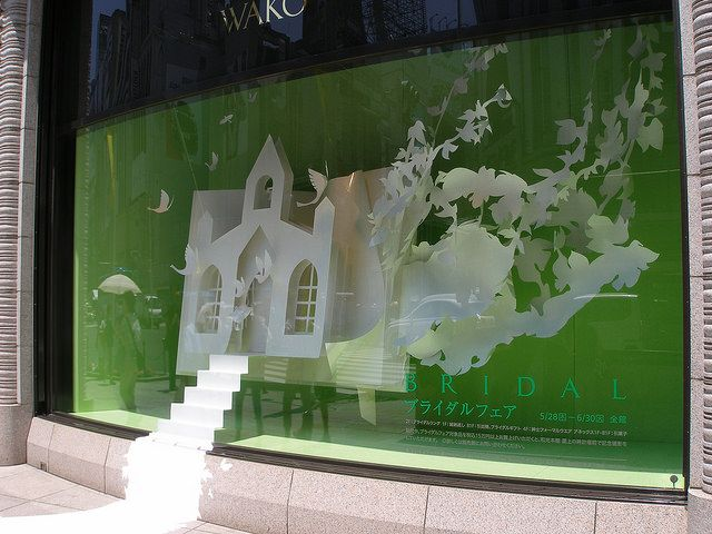 """WAKO,GINZA,Tokyo,Japan, """"Get me to the church on time"""", pinned by Ton van der veer"""