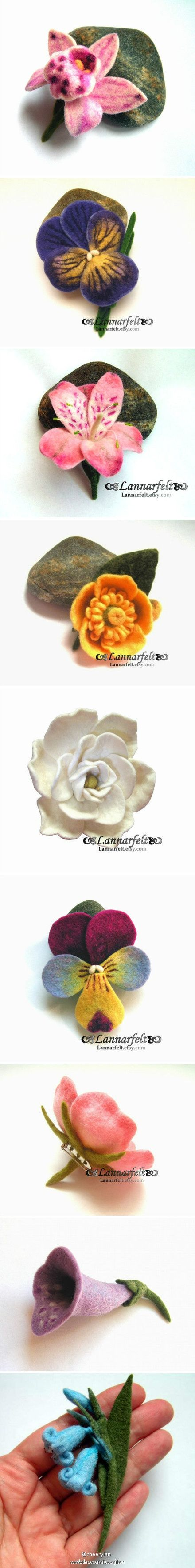 these are lovely and would be great on hats. #millinery #judithm #flower