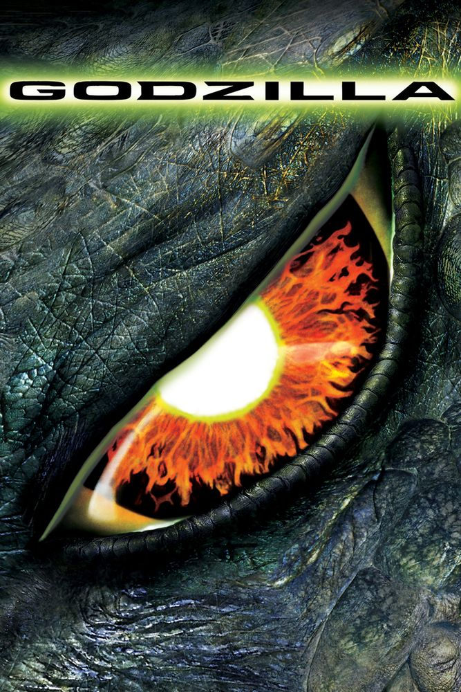 Godzilla Movie Poster - Matthew Broderick, Jean Reno, Maria Pitillo  #Godzilla, #MoviePoster, #ActionAdventure, #RolandEmmerich, #JeanReno, #MariaPitillo, #MatthewBroderick