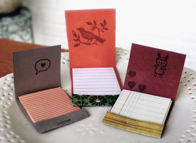 these are adorable. Matchbook mini notepads. Flickr photo by pink.polka