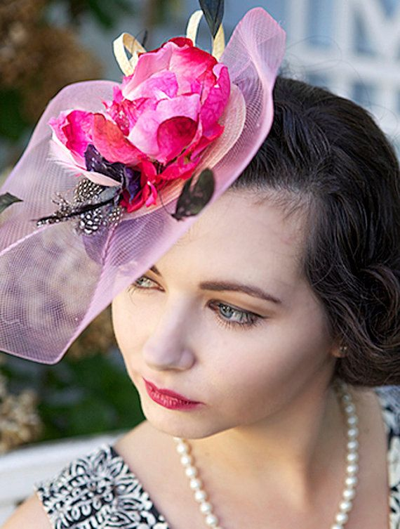 Pink Fascinator   hot pink fascinator hat by FascinatorsFirst, $39.00