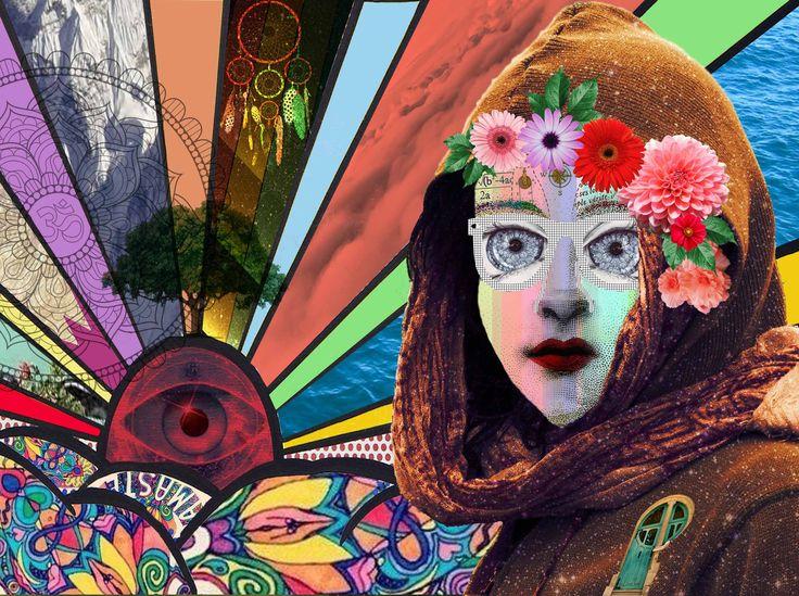 collage big eyes and the door of the universe by Luna Creciente