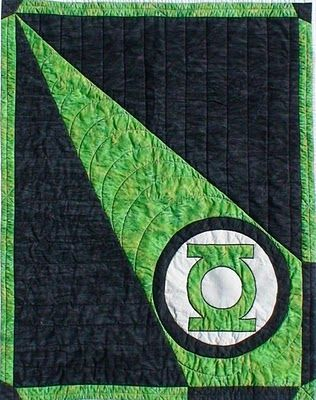 Green Lantern Quilt Jennys Quilts & Blankets: The Green Lantern Baby Blanket