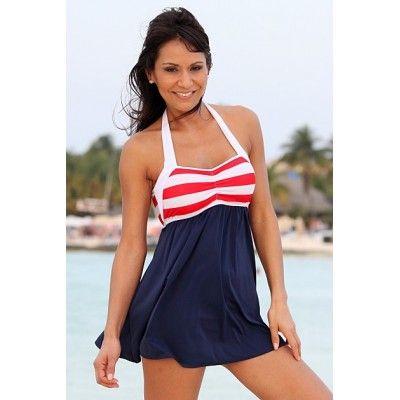 Sailor Girl Patriotic Swim Dress by Ujena USA UJ-Z297