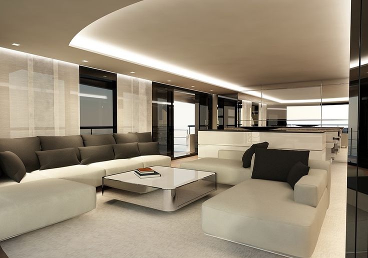 #LuxuryLiving Interior view of the Drettmann Explorer Yacht _