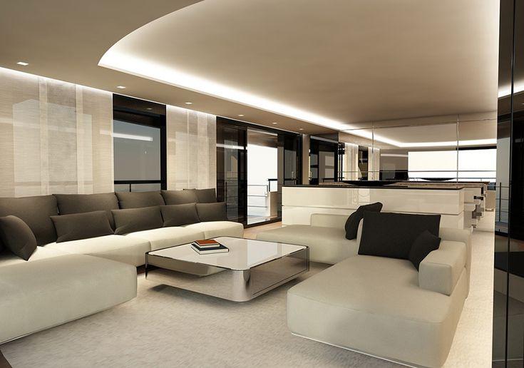 #LuxuryLiving Interior view of the Drettmann Explorer Yacht _