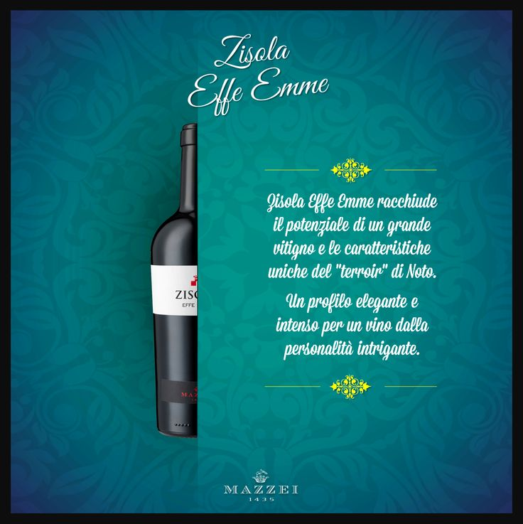 EFFE EMME - This wine has the potential of a great vine and the unique features of Noto terroir. A sleek profile for a wine with a strong and intriguing personality. @marchesimazzei #winegallery #marchesimazzei #zisola #wine #tuscany #winelovers