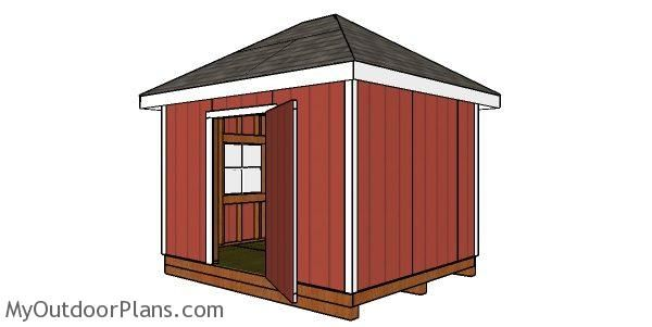 10 12 Shed With Hip Roof Free Diy Plans Shed Hip Roof Woodworking Plans Free