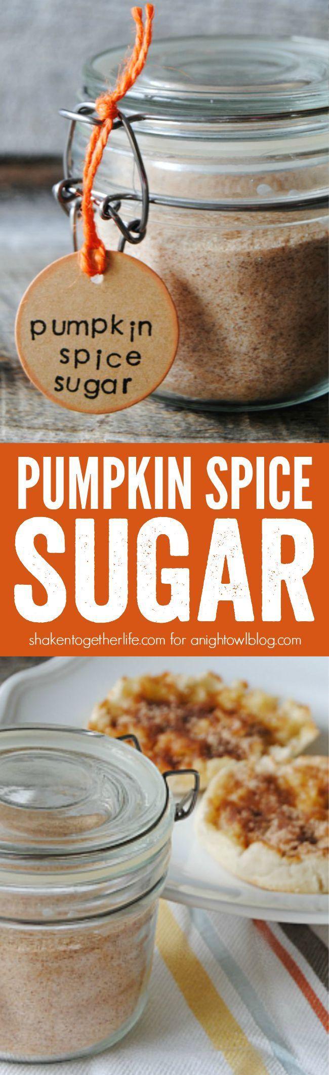 Pumpkin Spice Sugar is the taste of Fall! Sprinkle it on toast, stir it in…