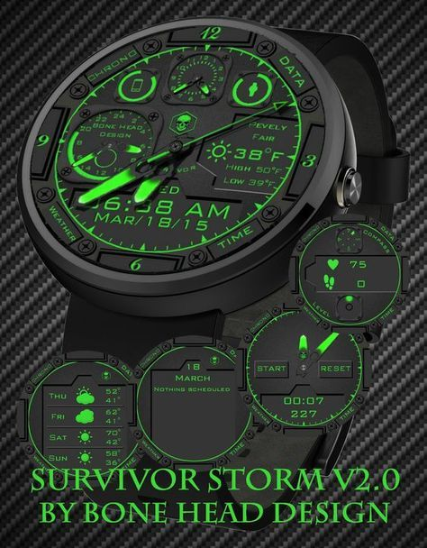 Do you have a Bone Head? Same exact watch face only in green.