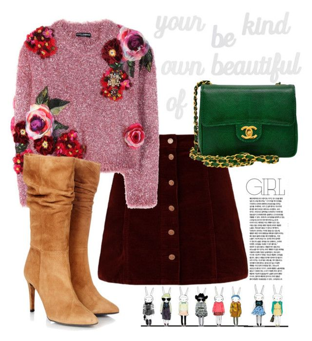 Follow yourself ;) by tanya-dayal on Polyvore featuring polyvore fashion style Dolce&Gabbana Gestuz Chanel PBteen clothing