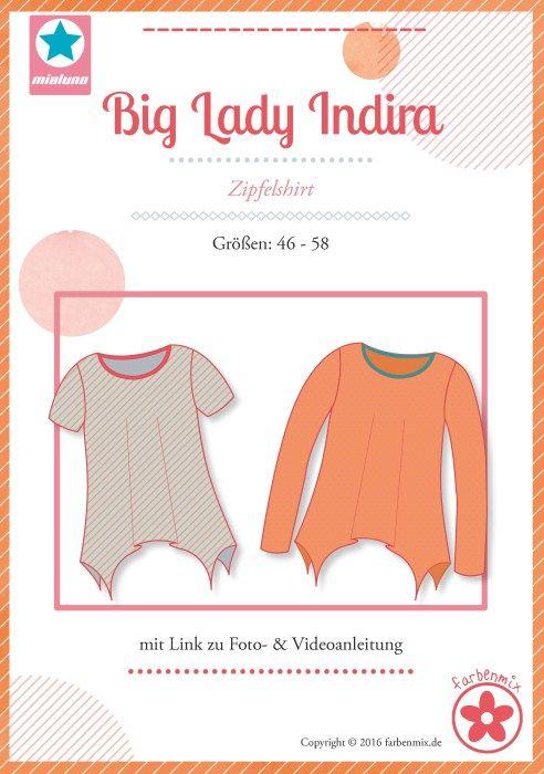 Zipfelshirt Big Lady Indira in den Größen 46 bis 58