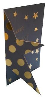 #primaria #1r Postal de Nadal amb forma retallada d'estrella