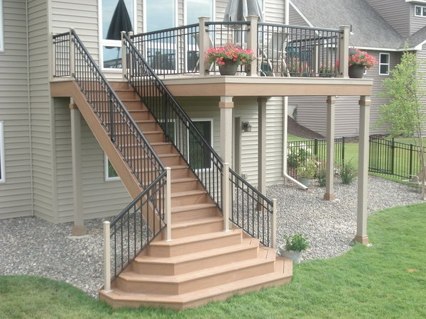 Superior Deck Stairs Are An Important Feature Not Only In Function, But Design. Deck  Builders In St. Paul Who Specialize In Deck Stair Design.