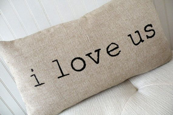 Adorable and comes in various sizes.  Valentine Pillow  Valentine Decor  by elisabethmichael, $15.00