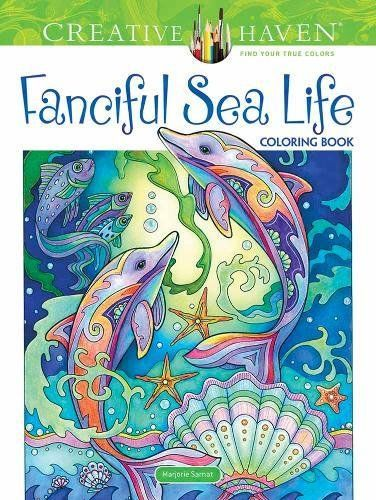 Creative Haven Fanciful Sea Life Coloring Book Adult Col