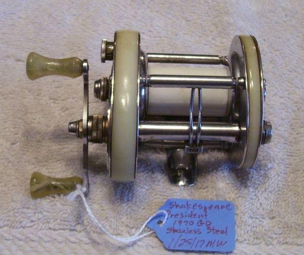 Antique shakesprare Reel Values   Shakespeare President Fishing Reels For Sale